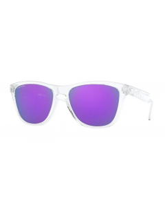 Oakley Frogskins Polished Clear Prizm Violet aurinkolasit