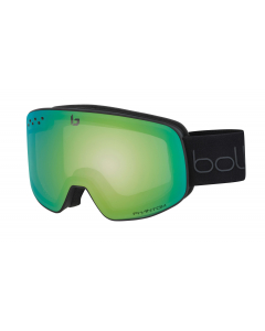 Bollé Nevada Matte Black & Green Diagonal Phantom Green Emerald 2020 laskettelulasit