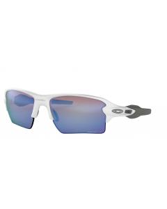 Oakley Flack 2.0 XL Polished White Prizm Deep H2O Polarized urheilu/aurinkolasit