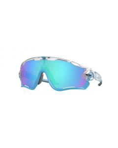 Oakley Jawbreaker Matte Clear Prizm Sapphire Iridium urheilu/aurinkolasit