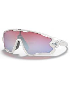 Oakley Jawbreaker Polished White Prizm Sapphire Snow urheilu/aurinkolasit