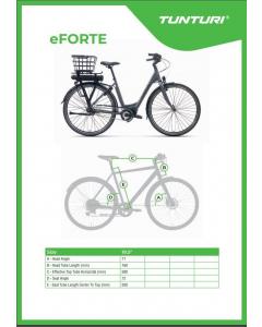 Tunturi eForte 2020 sähkö-citypyörä