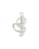 XLC Bottle Cage BC-S06 Plastic juomapulloteline-valkoinen/vihreä