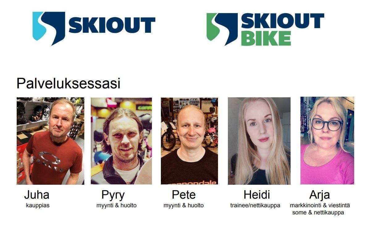 Ski Out & Bike yrityksen työntekijät helmikuu 2020