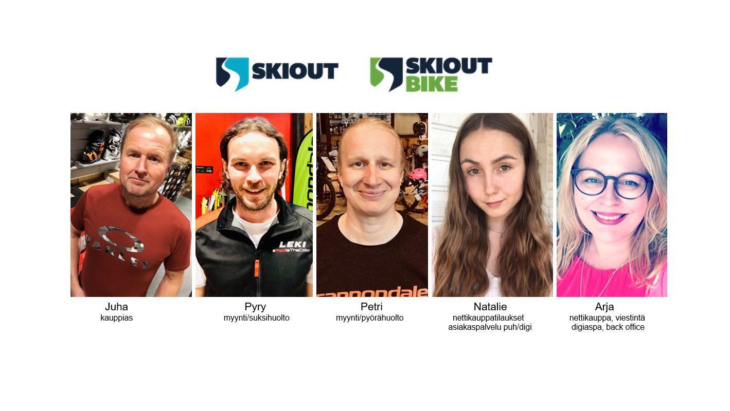 Ski Out & Biken henkilöt syksy 2020